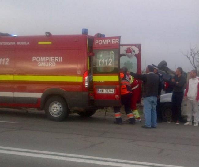 ACCIDENT pe Arad – Șiria! Atenție, drumul e acoperit de POLEI