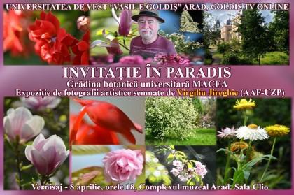"""Artistul-fotograf Virgiliu Jireghie vă invită """"în paradis"""" la cea de-a 47-a expoziţie personală"""