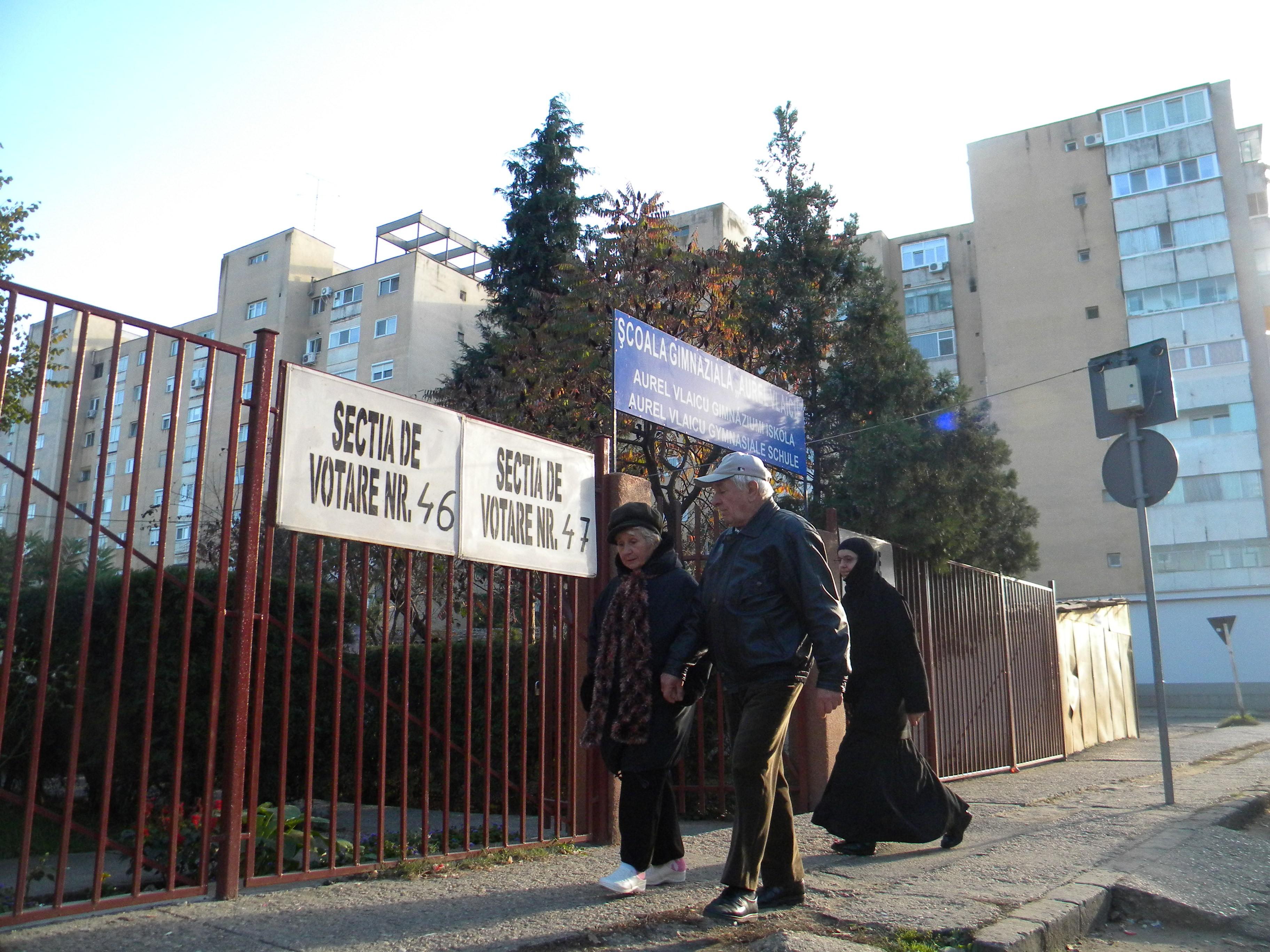 Aradul, sub media naţională a prezenţei la vot