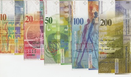 Francul elveţian s-a apreciat la un nivel RECORD faţă de euro: Peste 5 lei la cotaţiile de pe piaţa bancară