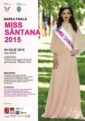 Ultima sută de metri pentru înscrierile la Miss Sântana 2015