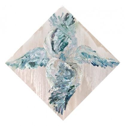 Heruvim,ulei,panza,100x100cm,2015