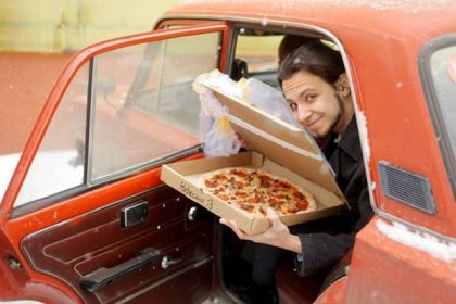 """Pic shows: 22-year-old Russian marries a pizza.nnA lonely Russian gourmet fed up of not having a better half has married a pizza.nnThe bizarre wedding ceremony took place in a pizzeria in the city of Tomsk, in the Tomsk Oblast region that is located in south-central Russia.nnThe man who was not named said he came up with the idea because she was fed up of being alone.nnHe said: """"At some point I realized that half of my friends are complaining about their better half, while the others were complaining about the lack of a better half.""""nn""""Love between two humans is a complicated wild thing. I was grateful that I had at least my love of food and then it came to me that actually love for food remains stable no matter what.""""nn""""Pizza would not reject you or betray you, and speaking quite frankly and sincerely, I love it.""""nnSceptical Russian authorities refused to give official permission to register the unusual marriage at a registry office, and the church also turned him down.nnSo in the end the unusual ceremony went ahead in one of the city¿s pizzerias. Managers and cooks at the restaurant even went as far as to provide the man with a certificate of marriage, and the pizza bride was covered in a bridal veil.nnAfter that the happy groom posed in front of many cameras with his """"wife"""". Details of what they did on their honeymoon night together were not revealed.nn(ends)"""