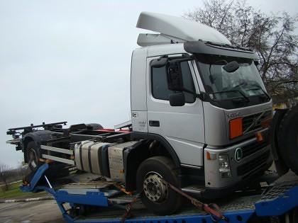Cap tractor furat din Austria, depistat la P.T.F. Nădlac