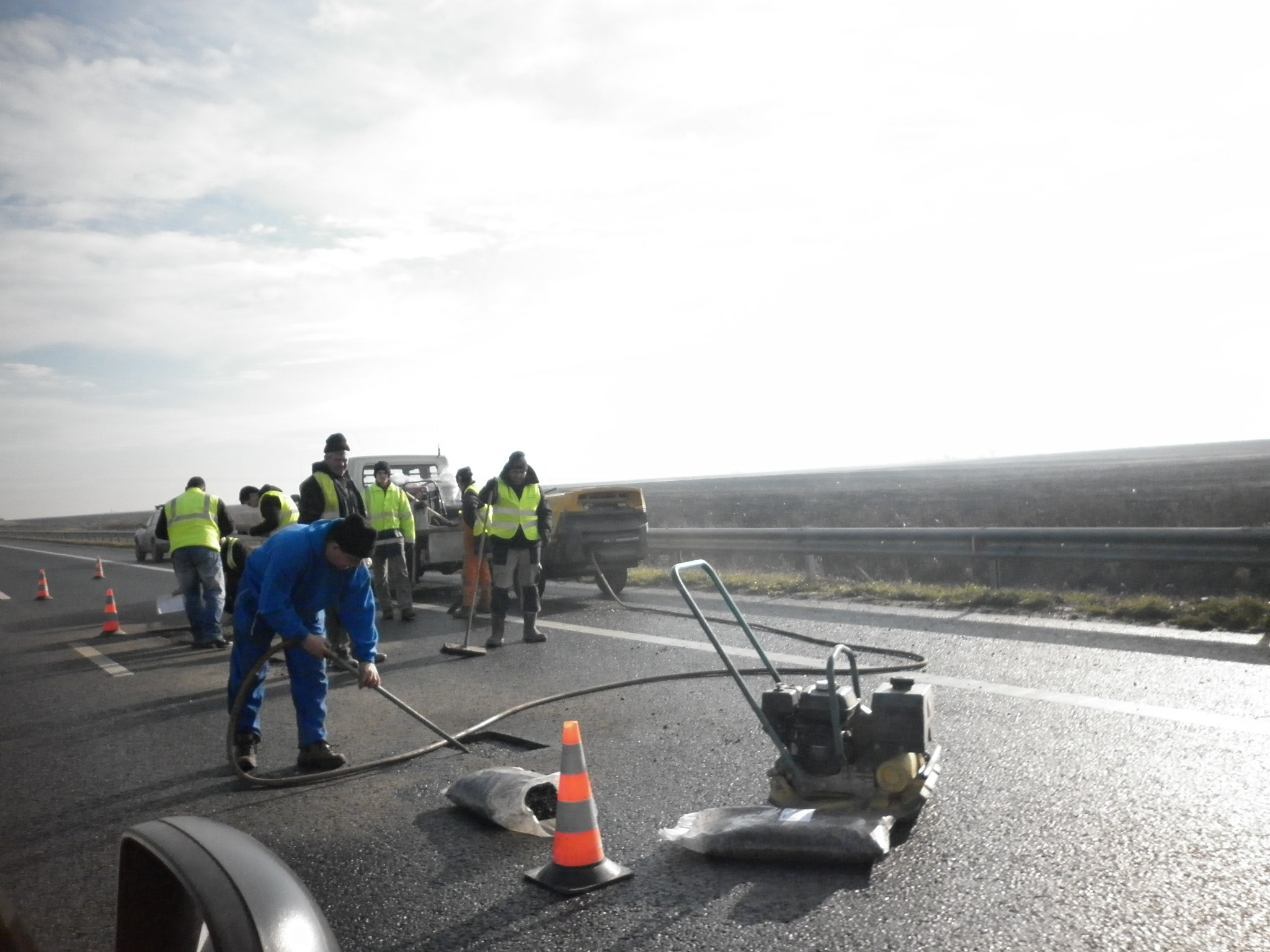 lucrari pe autostrada