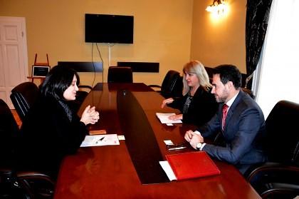 Atașat comercial al ambasadei Austriei în România, în vizită la Primăria Arad