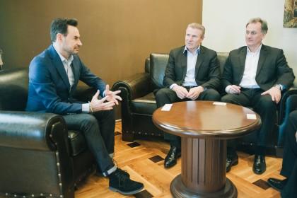 Serghey Bubka și Robert Emmyan, mari personalități sportive, în vizită la Arad