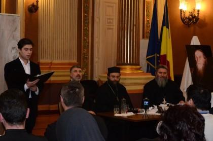 Părintele Nicolas Sakharov a conferențiat la Primăria Aradului