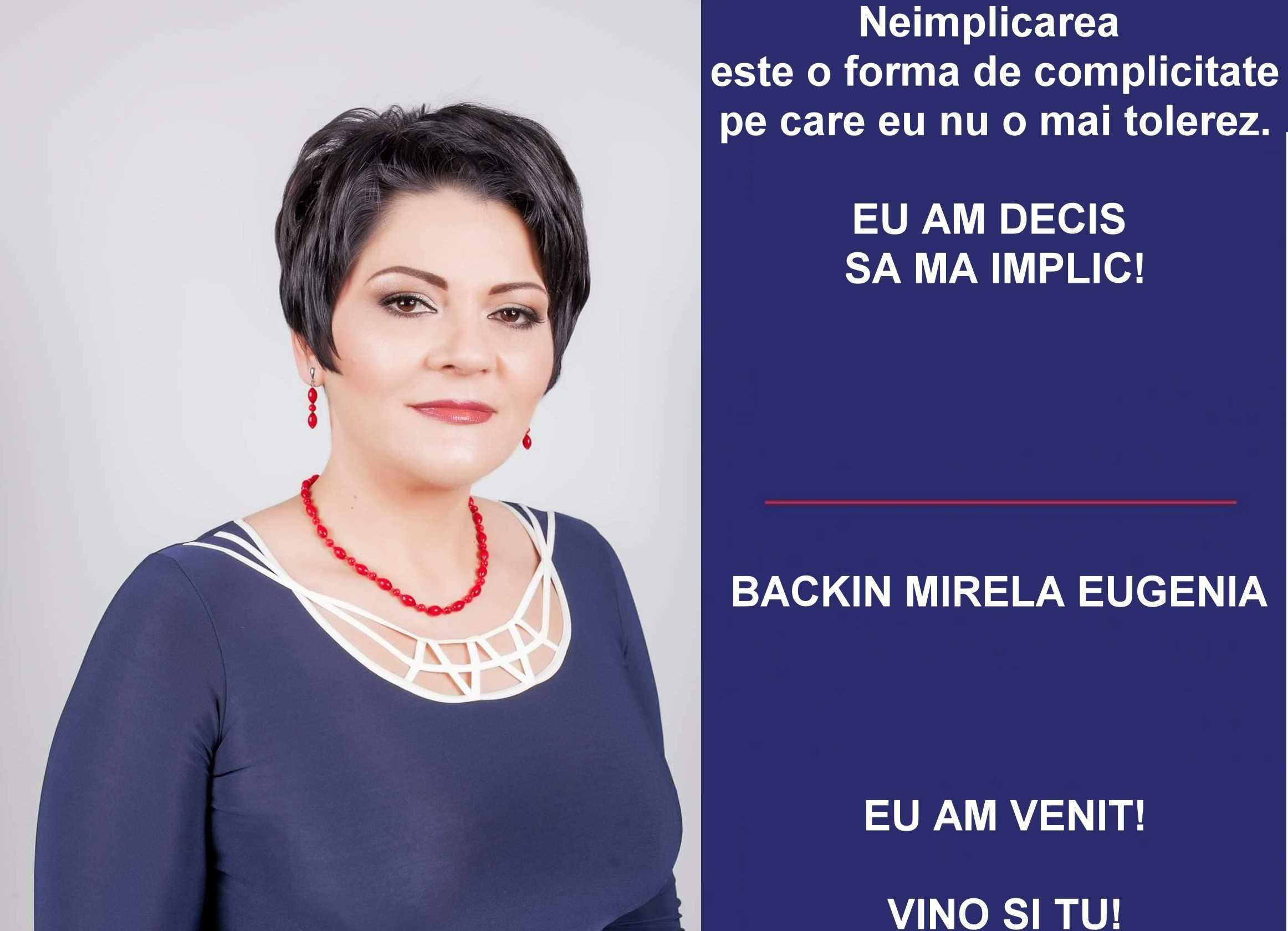 Mirela Backin implicare