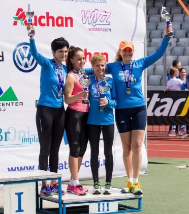 Sportivele arădence, pe podium la Maratonul Internațional Cluj-Napoca