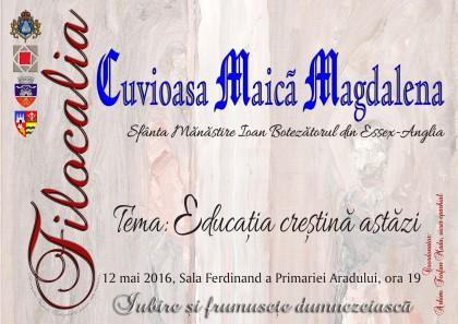 PRIMIM SPRE PUBLICARE/ Cuvioasa Maică Magdalena (Anglia) va participa la manifestările Filocalia