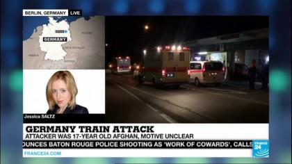 Atentat ȘOCANT într-un tren din Germania: Un tânăr islamist a atacat pasagerii cu TOPORUL