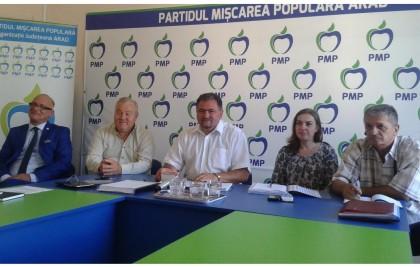 PMP Arad are un nou vicepreședinte. Partidul sprijină protestul transportatorilor și unirea cu Republica Moldova