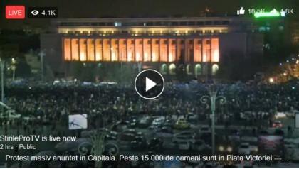 VIDEO/ România în STRADĂ! IMAGINI în DIRECT de la PROTESTELE împotriva grațierii