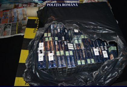 Transport ilegal de țigarete, depistat de polițiștii din Ineu
