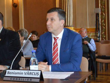 """Beniamin Vărcuș: """"Avem mari rezerve că primarul va proceda într-adevăr la materializarea proiectelor votate, care pe hârtie totalizează peste 40 milioane de euro"""""""