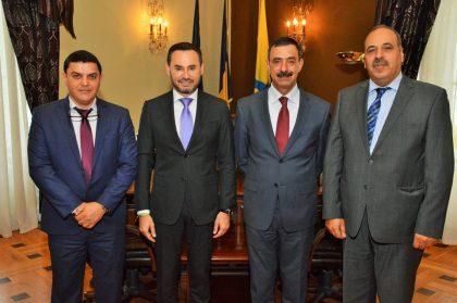 Înalt oficial al Palestinei, în vizită la Arad. Despre ce a discutat cu Gheorghe Falcă