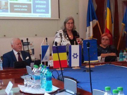"""Ambasadorul Statului Israel a vizitat Universitatea de Vest """"Vasile Goldiș"""" din Arad"""