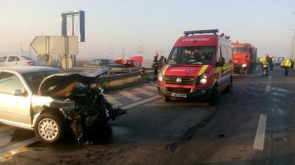 BREAKING NEWS/ Accident cu mai MULTE MAŞINI, pe AUTOSTRADĂ