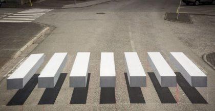 INEDIT/ Treceri de pietoni 3D în fața școlilor din Arad