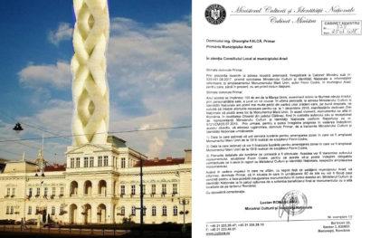 """Situația devine tot mai GRAVĂ: """"Aradul RISCĂ să rămână fără monumentul MARII UNIRI"""""""