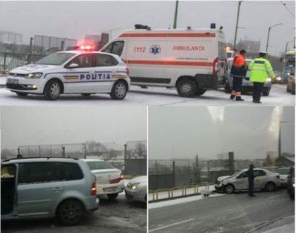 UPDATE/ Zăpada a dat peste cap traficul rutier: ACCIDENTE pe bandă rulantă (FOTO)