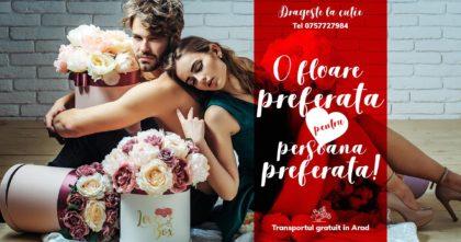 """Cutia cu trandafiri """"LoveBox"""", CADOUL IDEAL pentru ZIUA ÎNDRĂGOSTIȚILOR"""