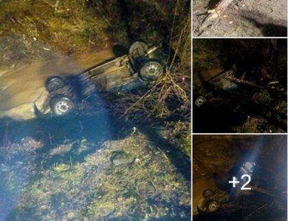 BREAKING NEWS/ Mașină căzută în râu, la Moneasa! Ocupanții acesteia NU AU FOST GĂSIȚI (FOTO)