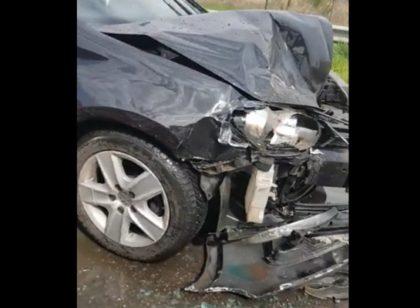 ACCIDENT în sensul giratoriu! Circulaţia spre Sânnicolau Mic, BLOCATĂ