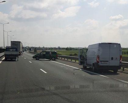 ACCIDENT pe autostrada Arad – Timișoara! Ce s-a întâmplat