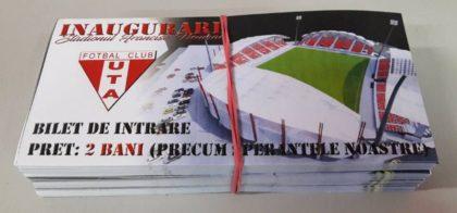 ULTIMĂ ORĂ: Au fost puse în vânzare bilete pentru INAUGURAREA stadionului UTA