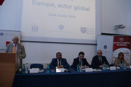 Viitoarea agendă a președinției României la Consiliul Uniunii Europene, dezbătută la UVVG Arad