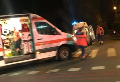 ACCIDENT în faţa unui SUPERMARKET din Arad (FOTO)