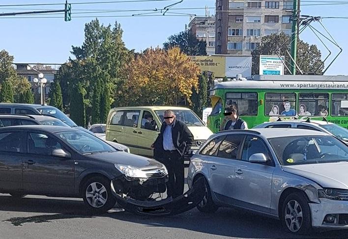 ACCIDENT la Podgoria! A fost implicat un șofer începător