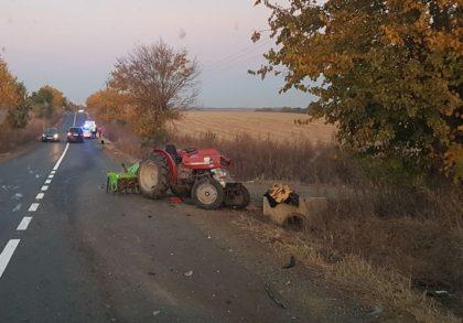 NEWS ALERT/ Accident la ieşirea dintr-o localitate arădeană