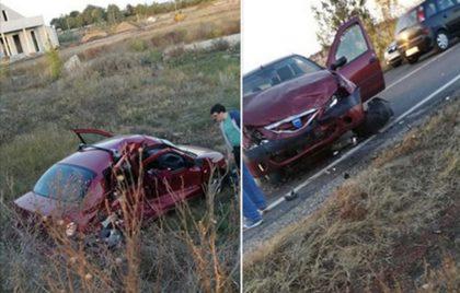 NEWS ALERT/ ACCIDENT pe şoseaua Arad – Oradea! Două maşini implicate. O femeie, blocată în autoturism (FOTO)