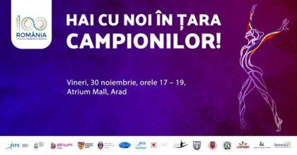"""Sportivi și antrenori RENUMIȚI vin la Arad cu ocazia evenimentului """"Hai cu noi în țara campionilor!"""""""
