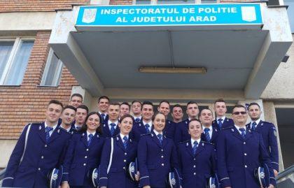 20 de agenți de poliție din noua generație, repartizați la Inspectoratul de Poliție Județean Arad