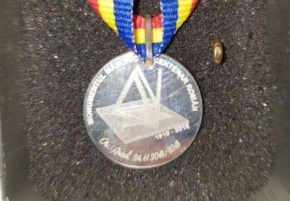 Monedă a Masoneriei, lansată la Arad cu ocazia celebrării Centenarului Marii Uniri