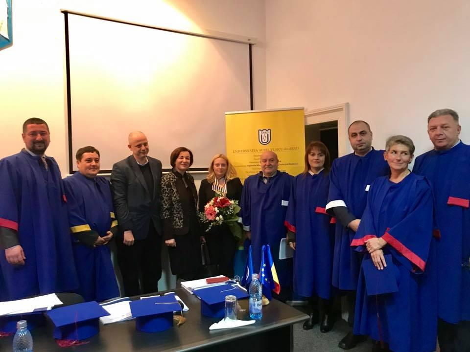 """Academicianul Lucian Liviu Albu, Doctor Honoris Causa al Universității """"Aurel Vlaicu"""""""