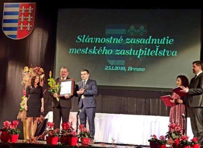 Vasile Ciceac, cetățean de onoare al orașului slovac Brezno!