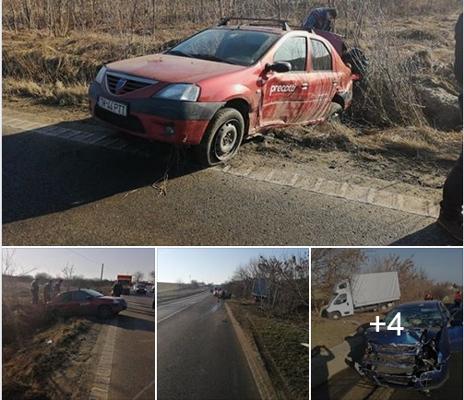 NEWS ALERT/ Două ACCIDENTE pe drumul Arad – Timişoara! Circulaţia rutieră se desfăşoară cu DIFICULTATE (GALERIE FOTO)