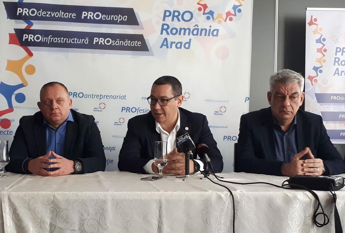 Ponta şi Tudose, la Arad: TUNURILE pe Fifor şi Falcă! Ce a făcut senatorul şi cât îl vor plânge arădenii pe primar