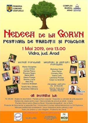 """Festival de TRADIȚII ȘI FOLCLOR, de 1 mai! Iubitorii de muzică populară sunt invitați la """"Nedeea de la Gorun"""""""