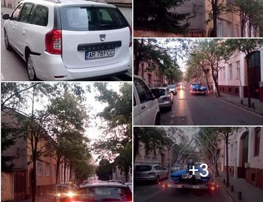 Un JEEP cu număr de Bucureşti a făcut PRĂPĂD pe o stradă din Arad (FOTO)