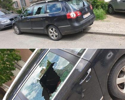 NEWS ALERT/ Hoţii au dat o SPARGERE în centrul Aradului! Ce au FURAT dintr-o maşină (FOTO)
