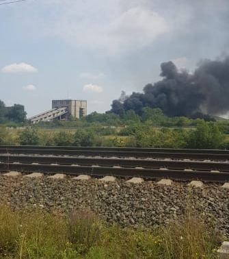 NEWS ALERT/ Incendiu de PROPORȚII la CET! (UPDATE + GALERIE FOTO)