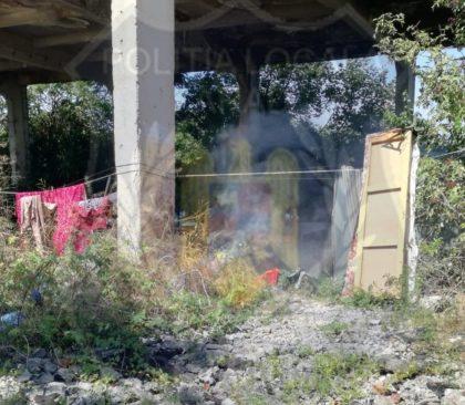 Risc de INCENDIU! Un bărbat a aprins un foc pe strada Poetului