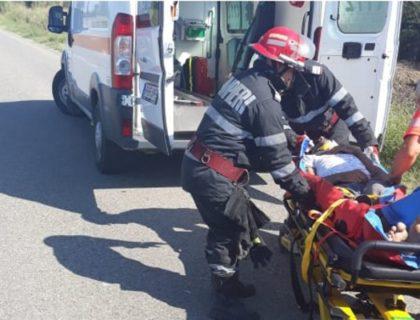 ACCIDENT GRAV pe DN 79 A, în județul Arad (GALERIE FOTO)
