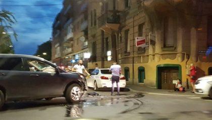 ACCIDENT cu un SUV în centrul Aradului